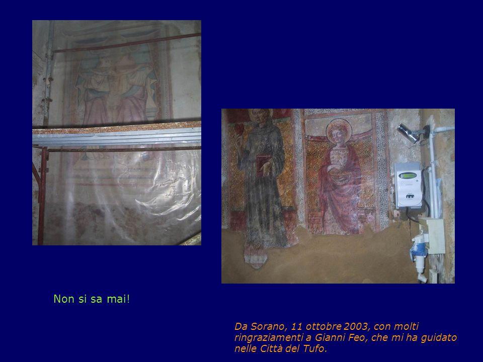 Speriamo che non intonichino gli affreschi. Non si sa mai.