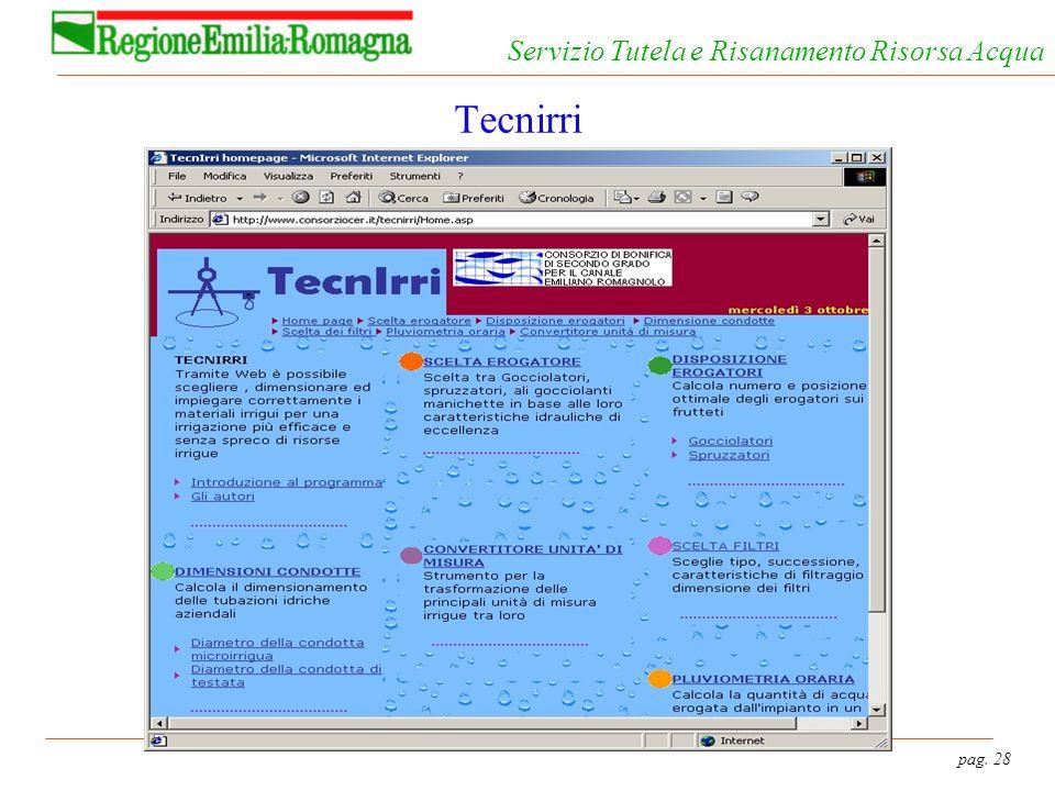 pag. 28 Servizio Tutela e Risanamento Risorsa Acqua Tecnirri