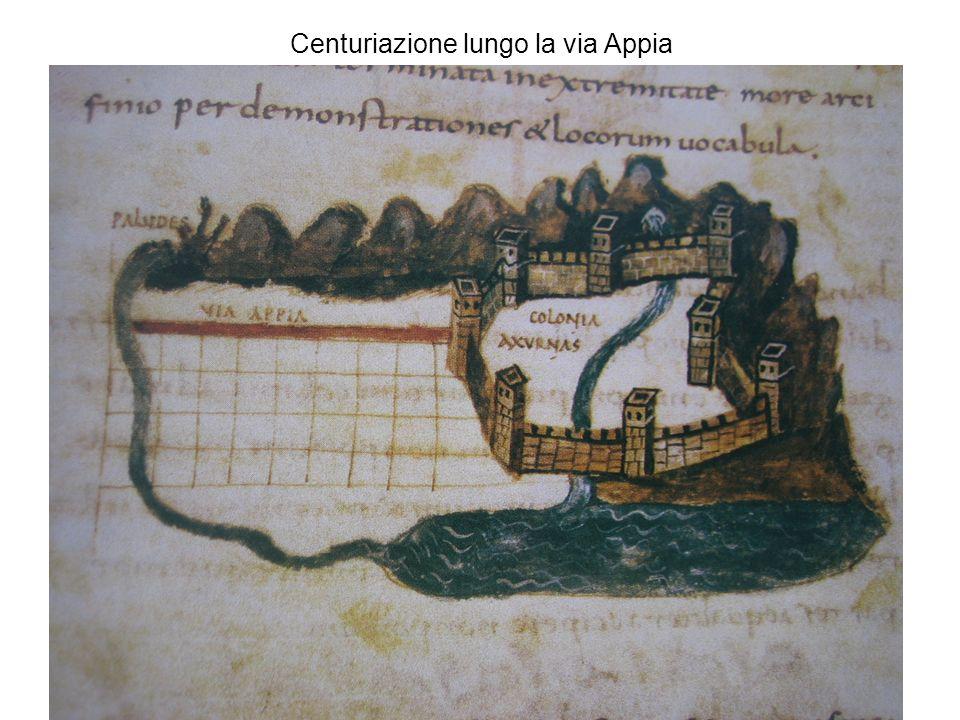 Centuriazione lungo la via Appia