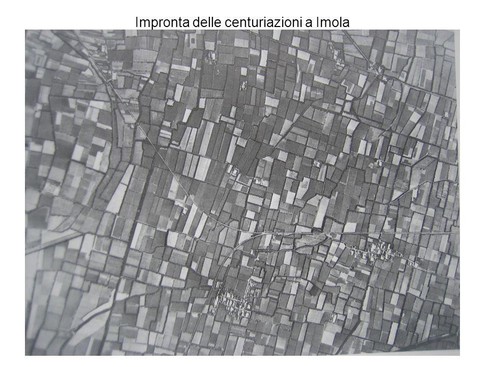 Impronta delle centuriazioni a Imola