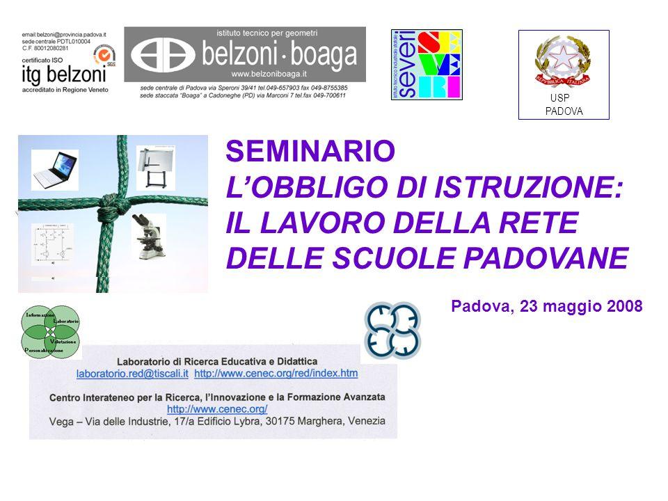 L obbligo di istruzione Padova, 23 maggio 2008 Nicoletta Ruggieri, Gruppo Asse Storico-SocialeVivere in società: il gruppo sociale si organizza e si evolve nella storia.