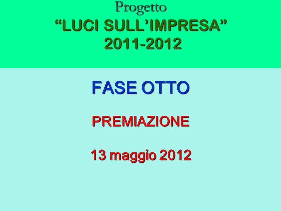 Progetto LUCI SULLIMPRESA 2011-2012 FASE OTTO PREMIAZIONE 13 maggio 2012