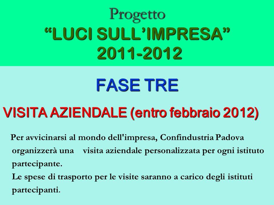 Progetto LUCI SULLIMPRESA 2011-2012 FASE TRE VISITA AZIENDALE (entro febbraio 2012) Per avvicinarsi al mondo dell'impresa, Confindustria Padova organi
