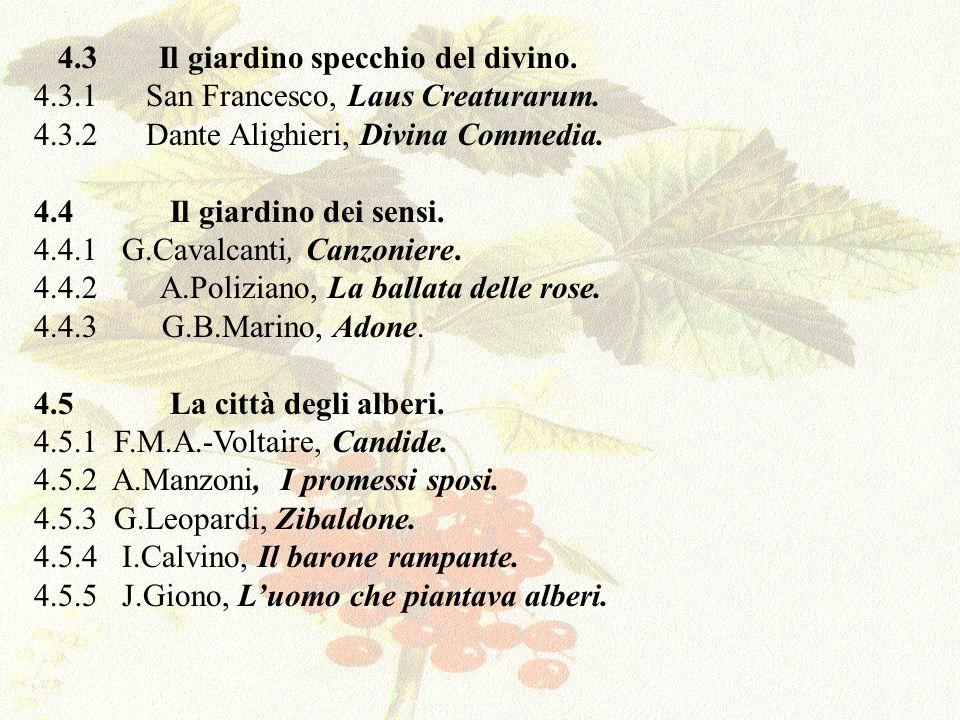 4.6 Tra metamorfosi e canto.4.6.1 W.Goethe, La metamorfosi delle piante (elegia).