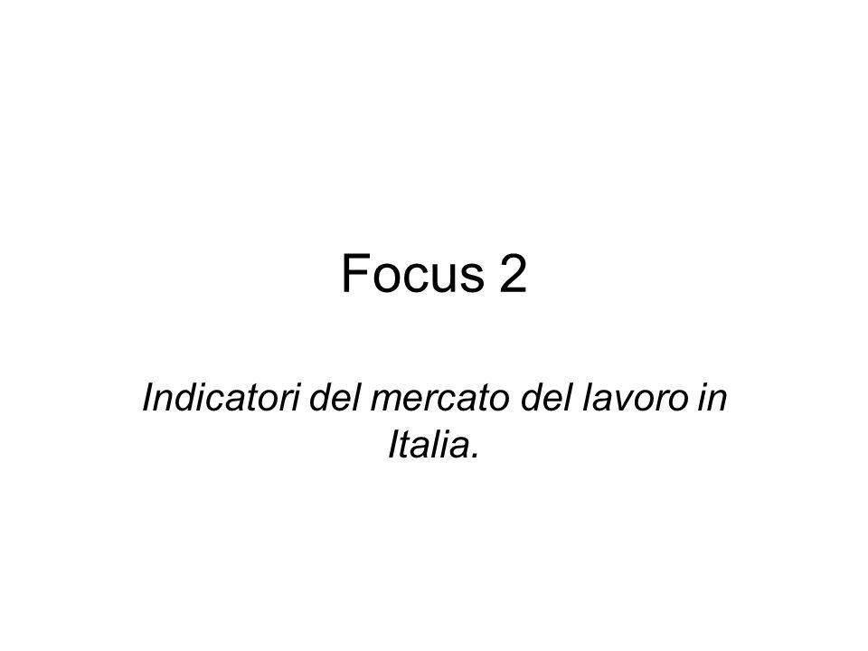 Focus 2 Indicatori del mercato del lavoro in Italia.