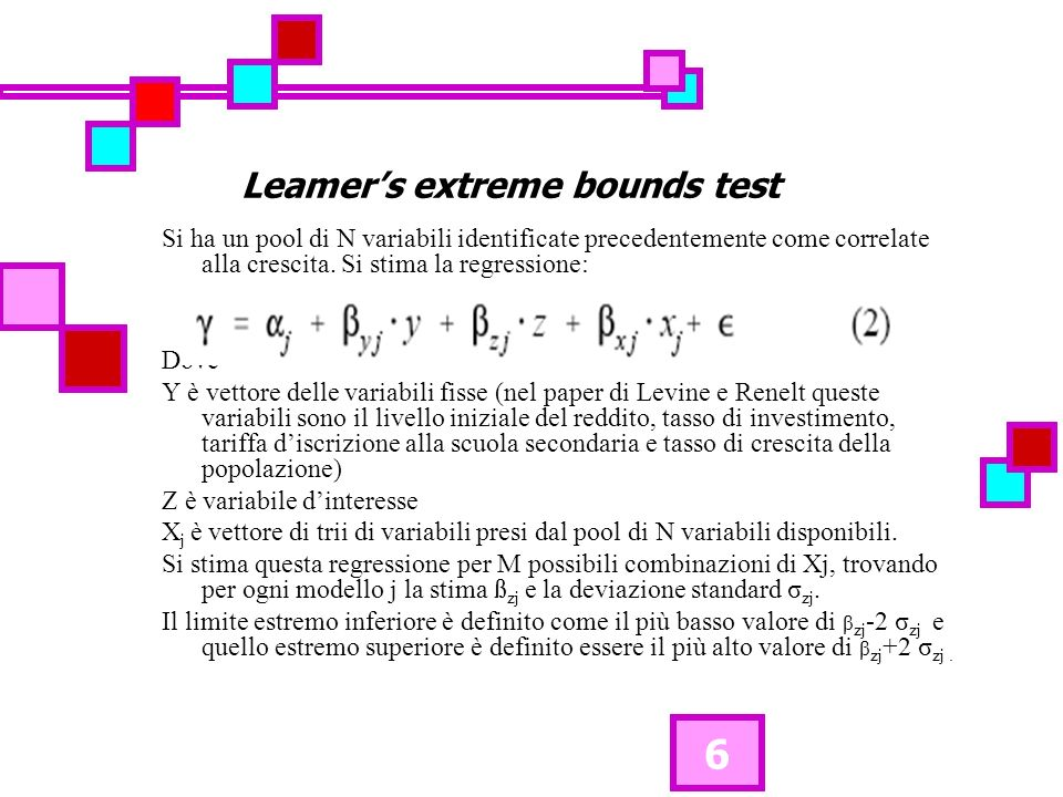 7 Questo test, per la variabile z, sostiene che al verificarsi di: 1.