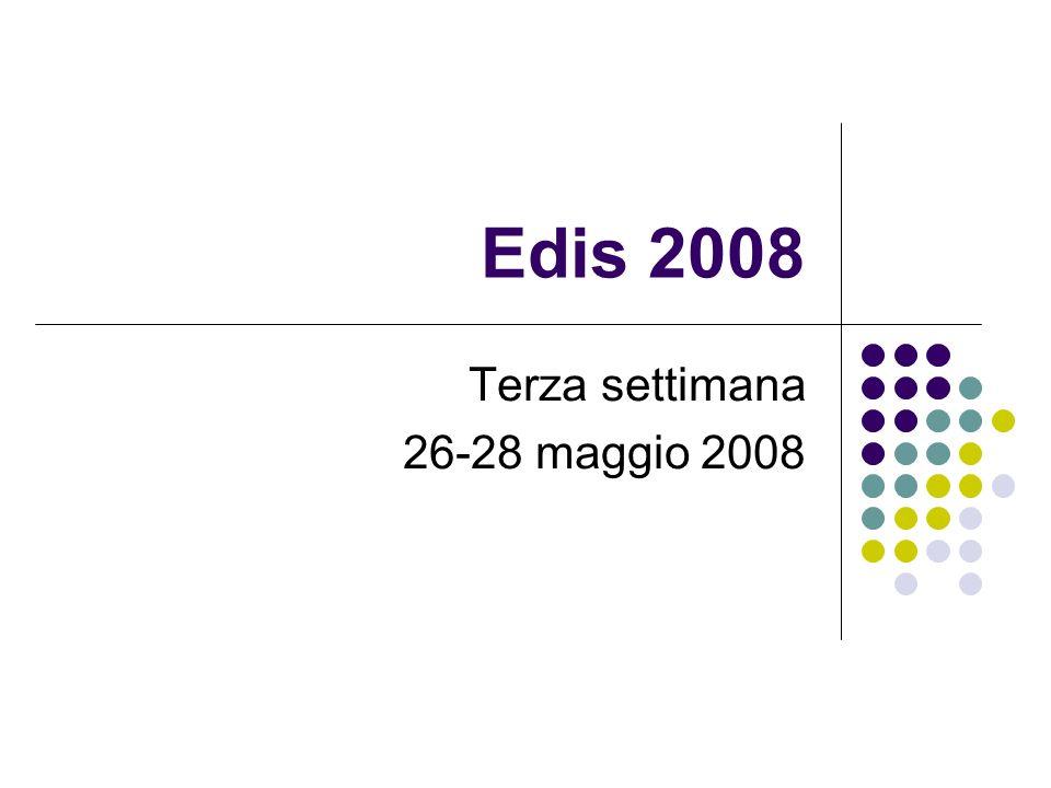 Edis 2008 Terza settimana 26-28 maggio 2008