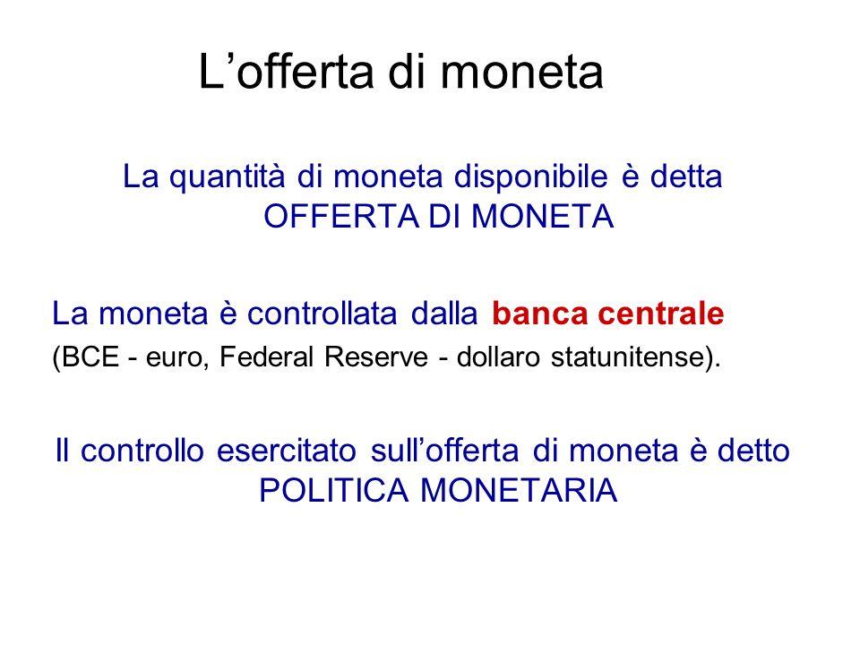 Che cosè la moneta La moneta in circolazione o Circolante, cioè il contante nelle mani del pubblico.
