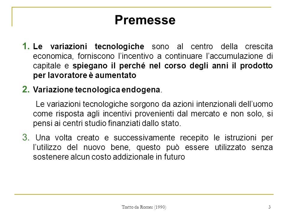 Tratto da Romer (1990) 3 Premesse 1.