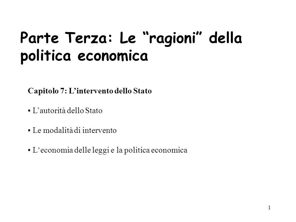 32 La politica economica dei costi di transazione Costi di gestione dei contratti ex-axte ed ex-post Costi di transazione in politica il contratto politico (incompleto, es.