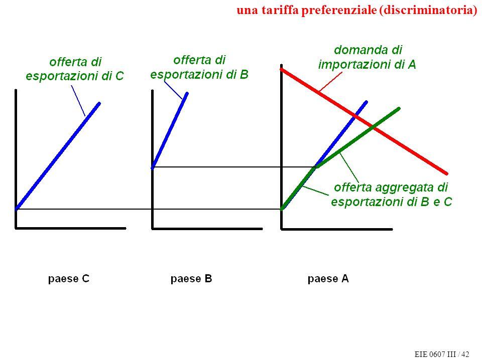 EIE 0607 III / 42 una tariffa preferenziale (discriminatoria)