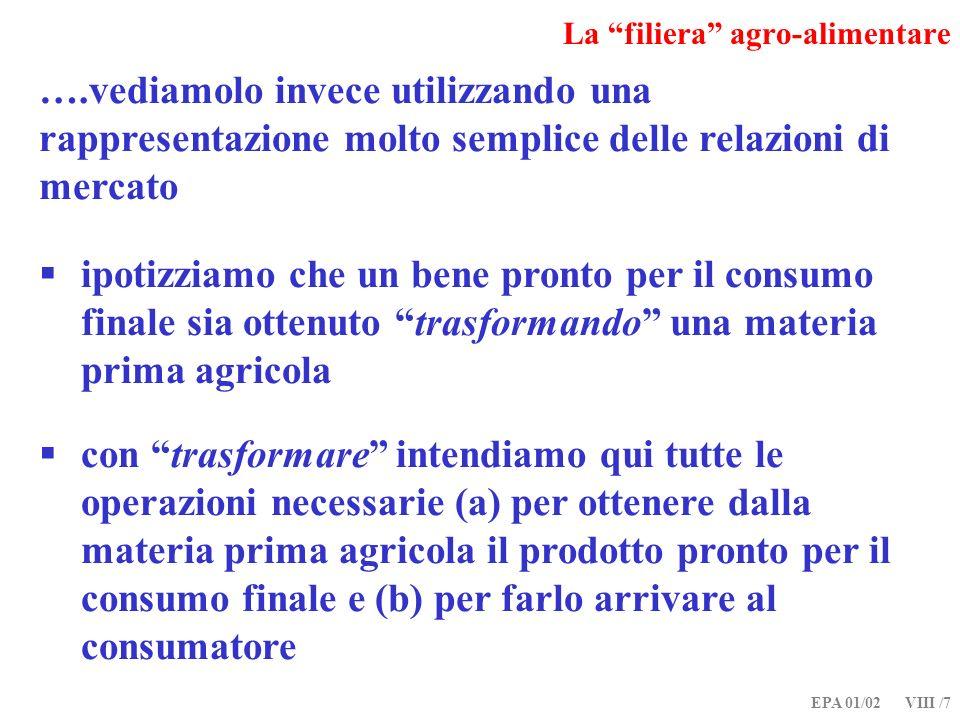 EPA 01/02 VIII /18 Relazioni verticali di mercato