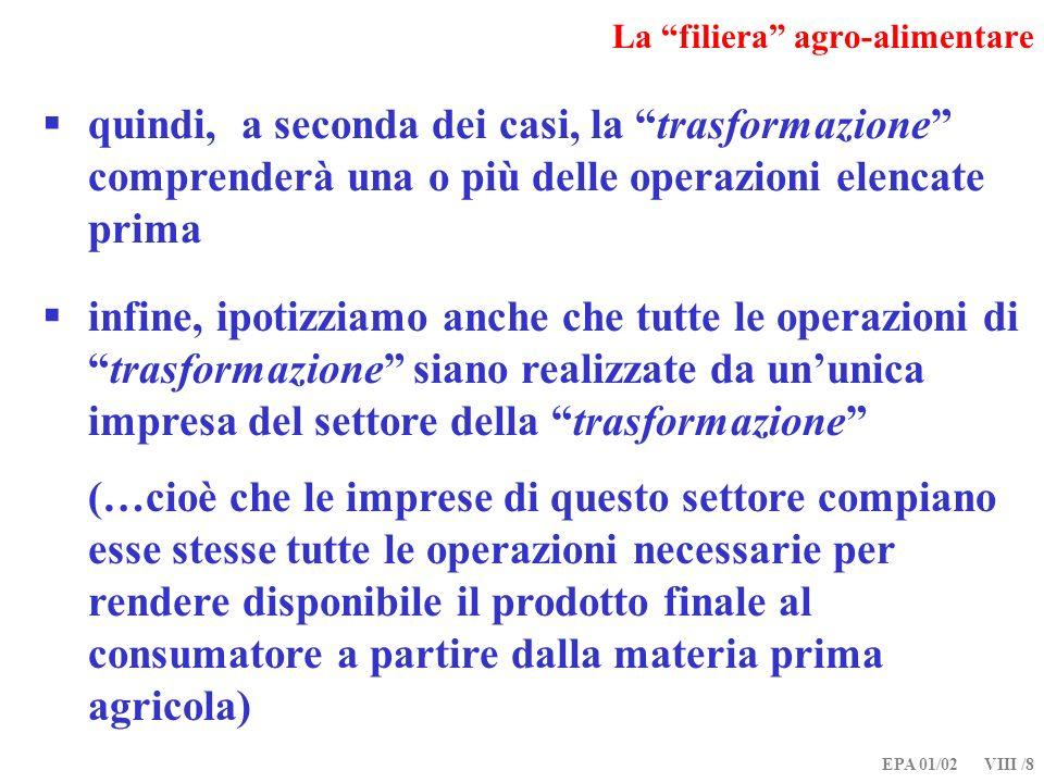 EPA 01/02 VIII /19 Relazioni verticali di mercato