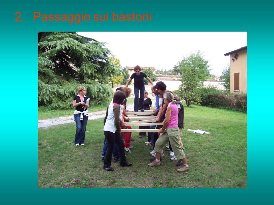 2.Passaggio sui bastoni