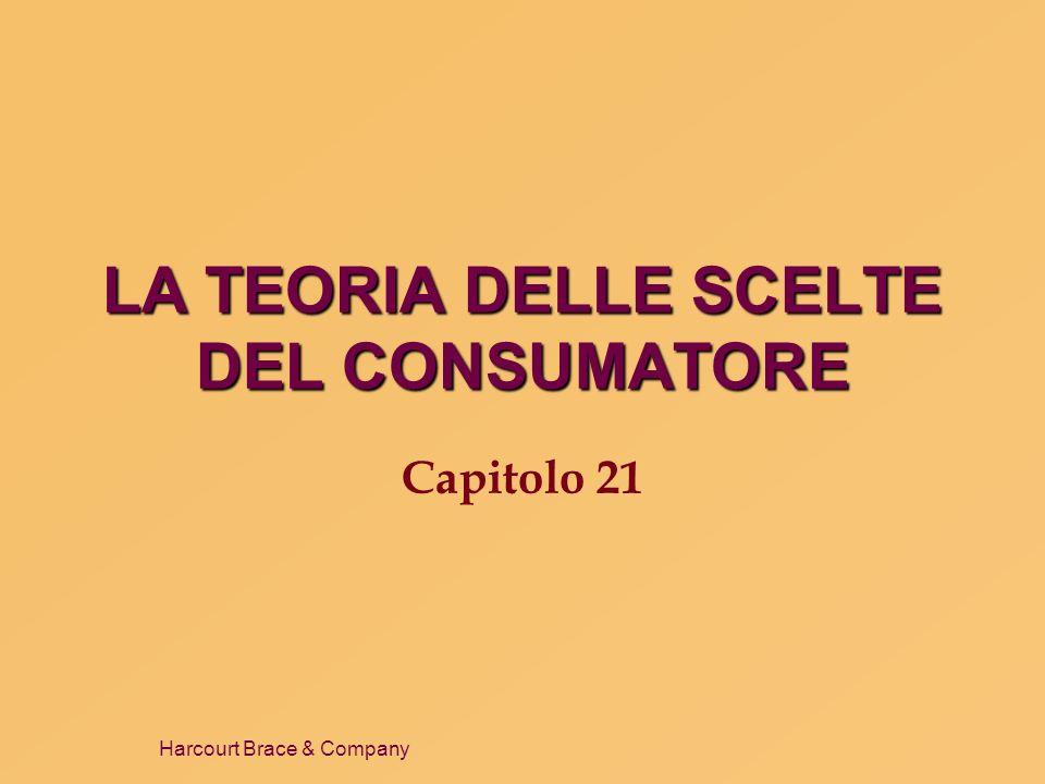 Harcourt Brace & Company LA TEORIA DELLE SCELTE DEL CONSUMATORE Capitolo 21