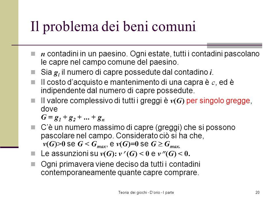 Teoria dei giochi - D'orio - I parte19 Riassunto Il modello di duopolio di Bertrand I contributi ai beni pubblici Prossimo argomento Lequilibrio di Na