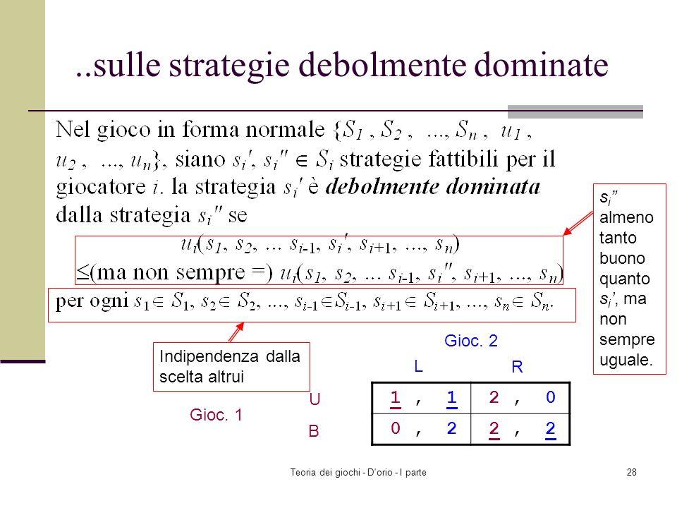 Teoria dei giochi - D'orio - I parte27 Il problema dei beni comuni