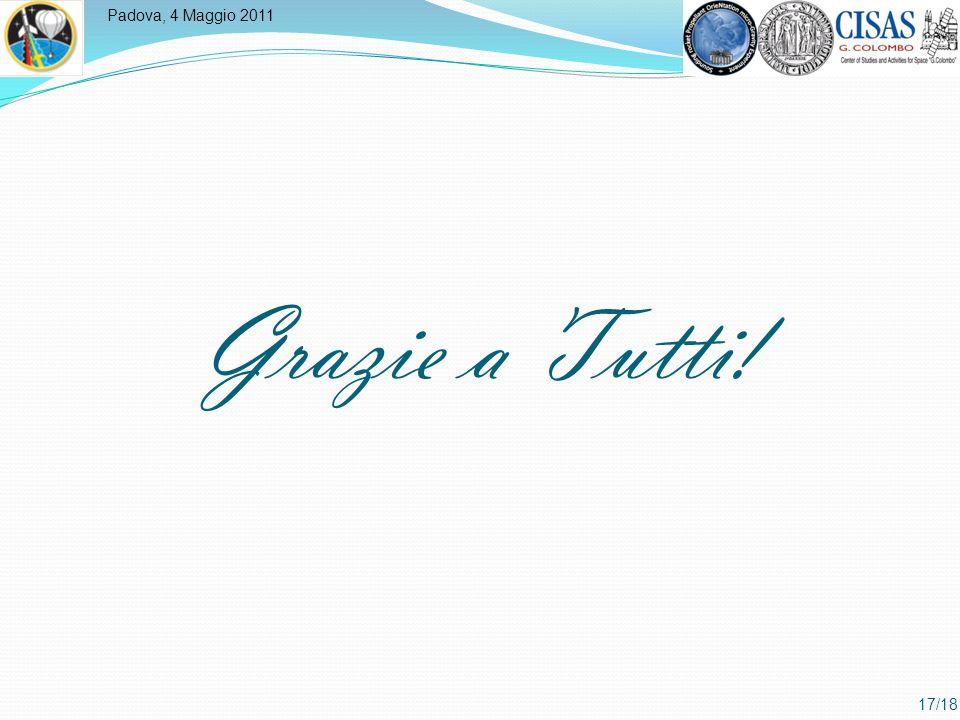 Padova, 4 Maggio 2011 17/18 Grazie a Tutti!