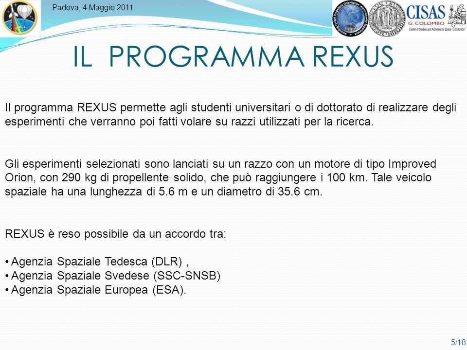 Padova, 4 Maggio 2011 6/18 Il razzo