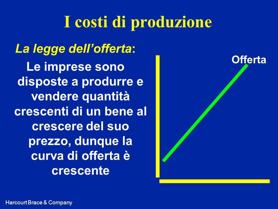 Harcourt Brace & Company Costo marginale: Quanto costa produrre una unità addizionale di prodotto.