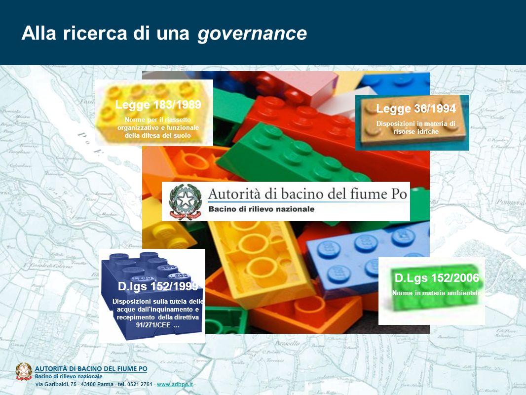 via Garibaldi, 75 - 43100 Parma - tel. 0521 2761 - www.adbpo.it -www.adbpo.it Alla ricerca di una governance D.Lgs 152/2006 Norme in materia ambiental