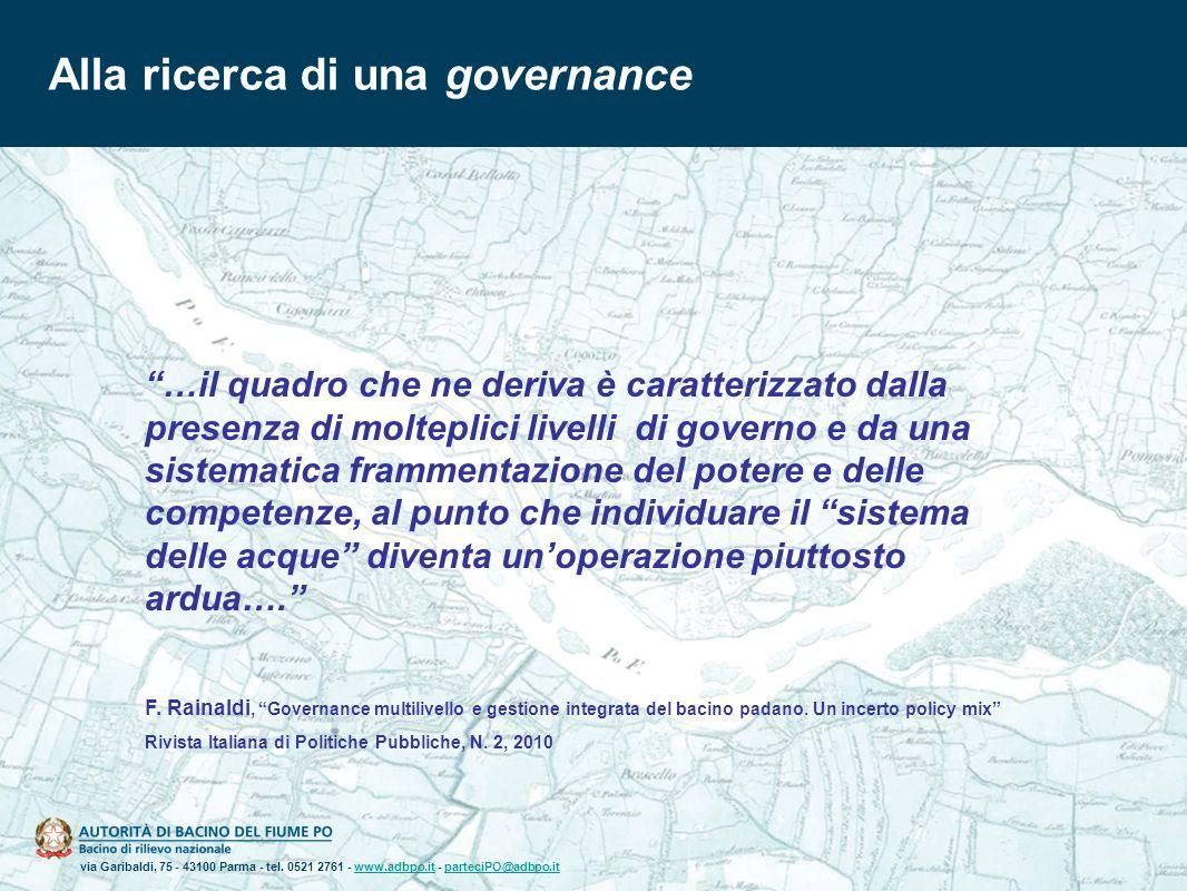 via Garibaldi, 75 - 43100 Parma - tel. 0521 2761 - www.adbpo.it - parteciPO@adbpo.itwww.adbpo.itparteciPO@adbpo.it Alla ricerca di una governance …il