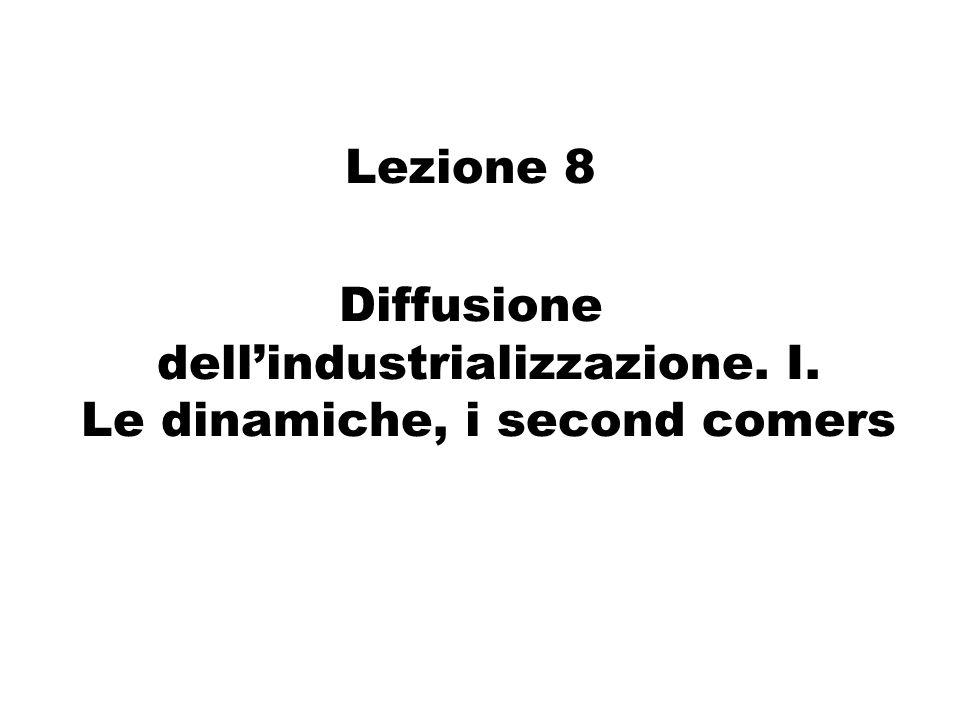 Lezione 8 Diffusione dellindustrializzazione. I. Le dinamiche, i second comers
