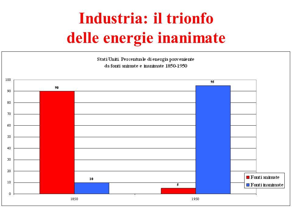 Industria: il trionfo delle energie inanimate