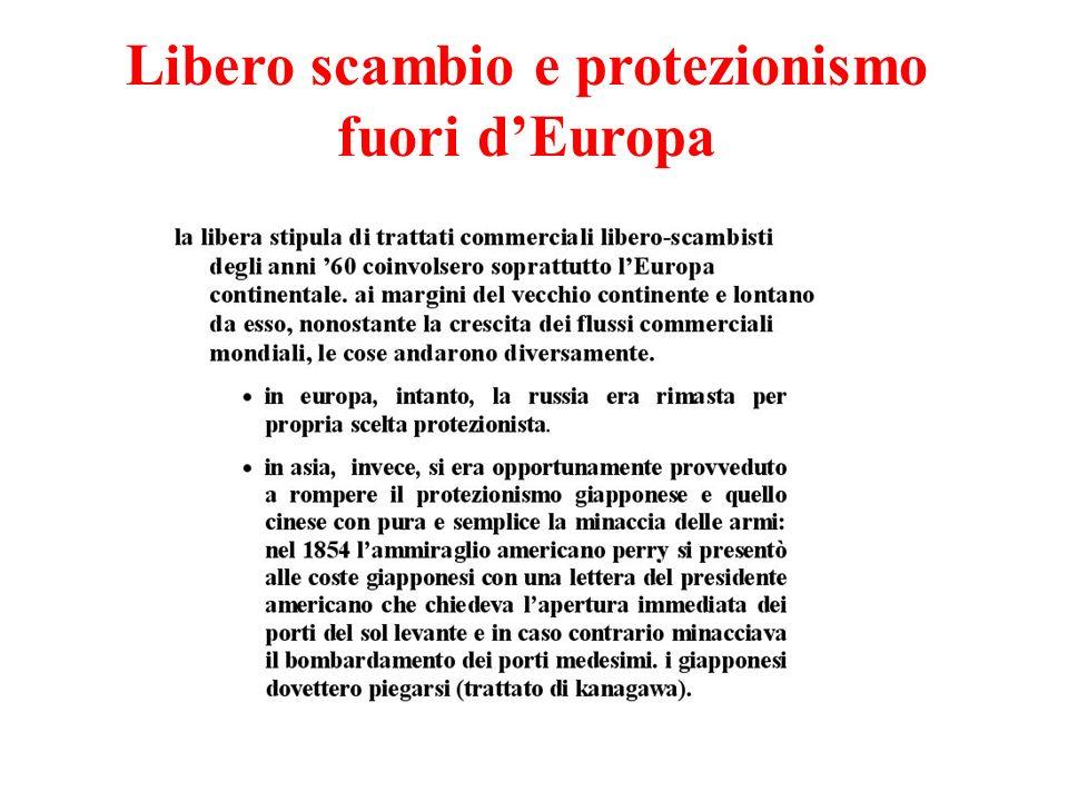 Libero scambio e protezionismo fuori dEuropa