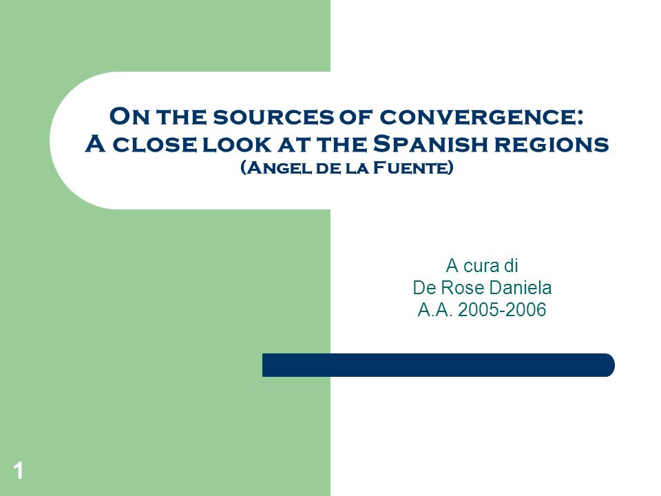 2 Introduzione How well can we explain cross-regional (or cross-national) differences in growth patterns and income levels in terms of a simple aggregate model built around a neoclassical production function with a common level of technical efficiency.