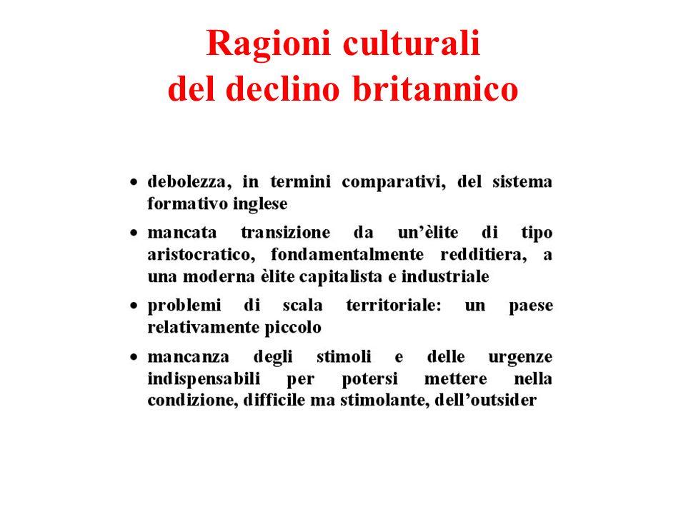 Ragioni culturali del declino britannico