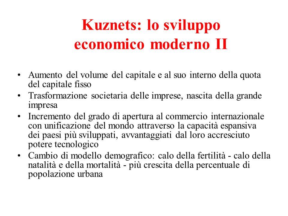 Aumento del volume del capitale e al suo interno della quota del capitale fisso Trasformazione societaria delle imprese, nascita della grande impresa
