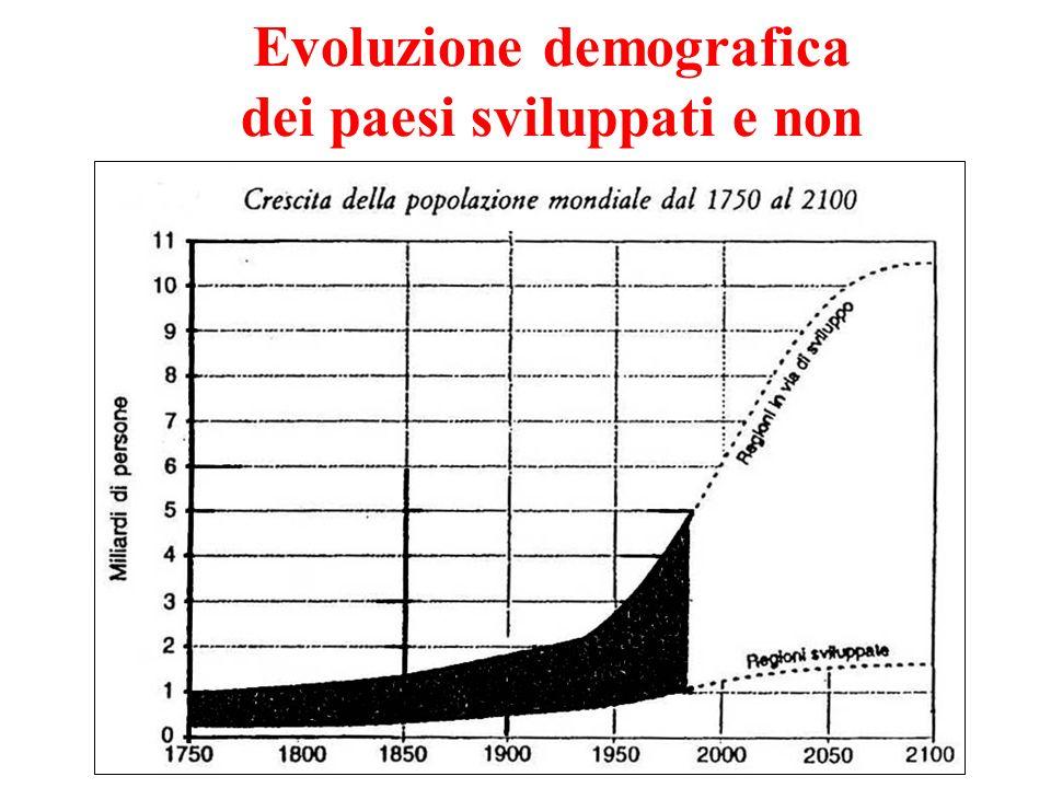 Evoluzione demografica dei paesi sviluppati e non