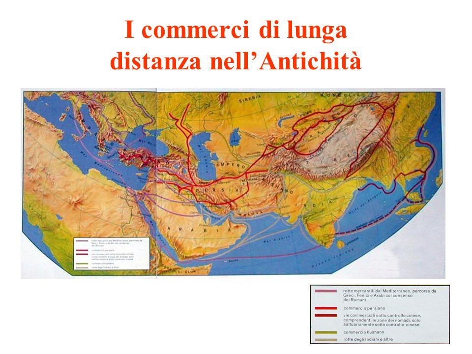 I commerci di lunga distanza nellAntichità