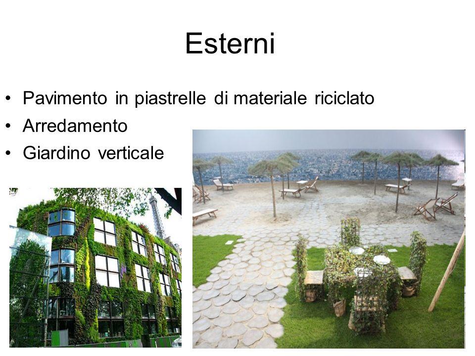Esterni Pavimento in piastrelle di materiale riciclato Arredamento Giardino verticale