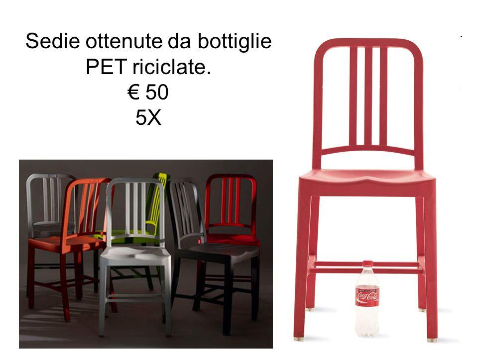Sedie ottenute da bottiglie PET riciclate. 50 5X