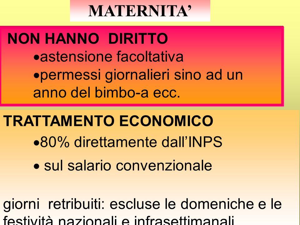 MATERNITA DIVIETO DI LICENZIAMENTO : DallINIZIO DEL PERIODO DI gravidanza e fino alla cessazione del periodo di astensione obbligatoria dal lavoro AST