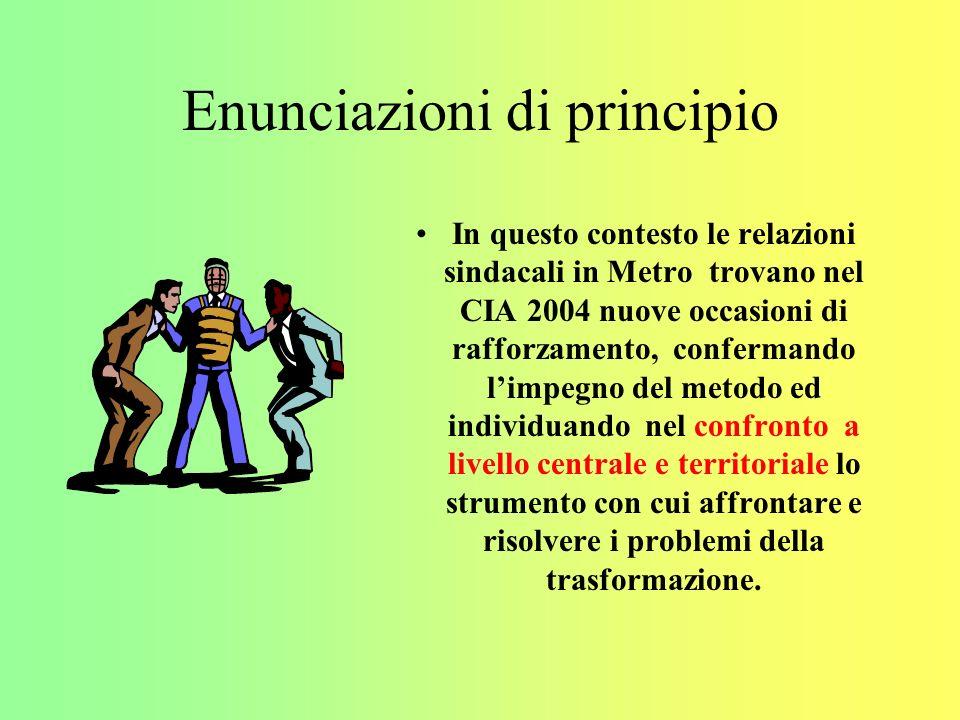 Agibilità sindacali Le agibilità sindacali saranno regolate nei magazzini ECO- Smaller, compresa la costituzione delle RSA /RSU, secondo le prassi esistenti nei magazzini classici e Junior.