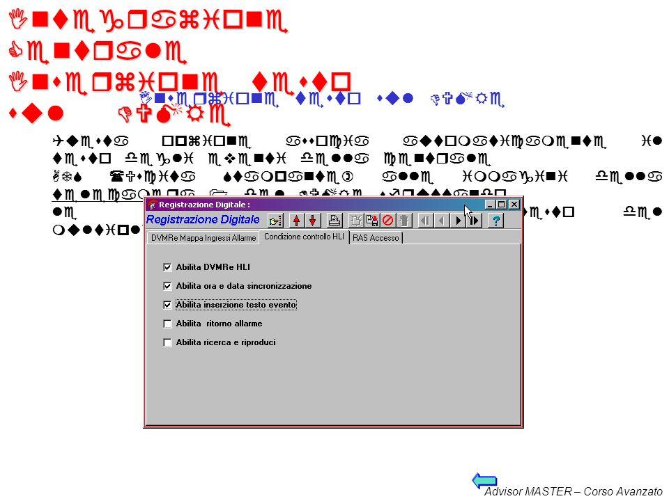 Advisor MASTER – Corso Avanzato Integrazione Centrale Sincronizzazione data e ora Sincronizzazione della data e dellora Questa funzione permette che l
