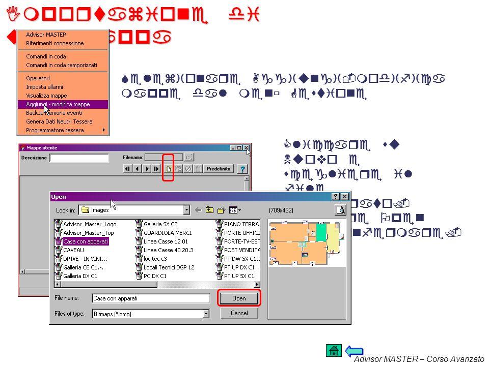 Advisor MASTER – Corso Avanzato Creazione e gestione delle Mappe In TITAN si ha la possibilità di creare mappe grafiche che permettono successivamente