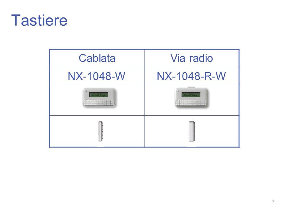 7 Tastiere CablataVia radio NX-1048-WNX-1048-R-W