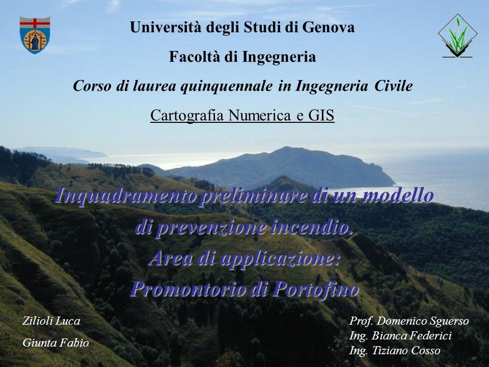 Università degli Studi di Genova Facoltà di Ingegneria Corso di laurea quinquennale in Ingegneria Civile Cartografia Numerica e GIS Inquadramento prel