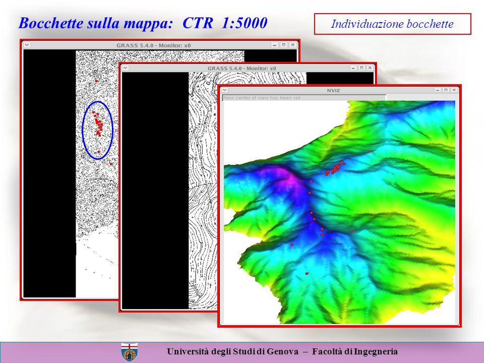 Bocchette sulla mappa: CTR 1:5000 Individuazione bocchette
