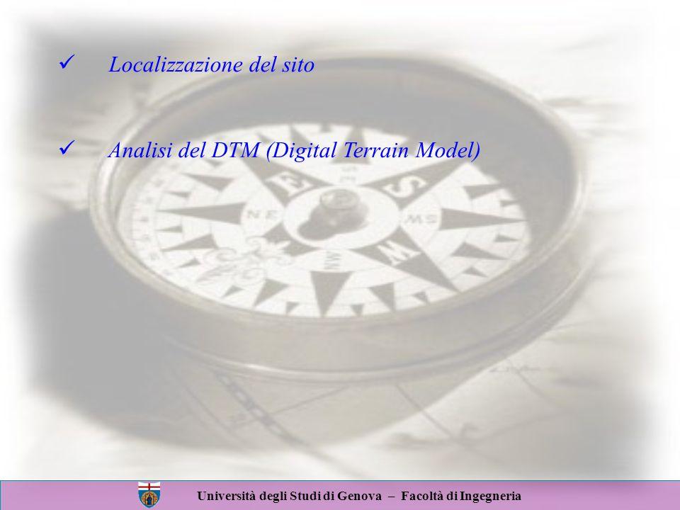 Università degli Studi di Genova – Facoltà di Ingegneria EsposizioneEsposizione Analisi morfologica del territorio D.T.M.