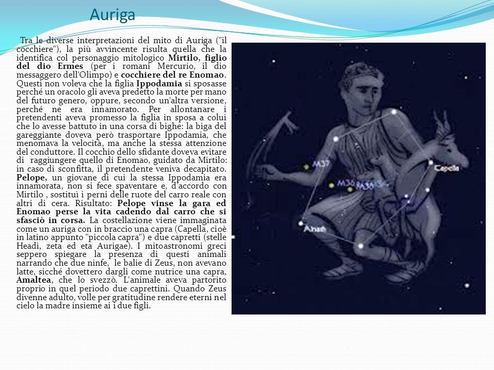 Auriga Tra le diverse interpretazioni del mito di Auriga (