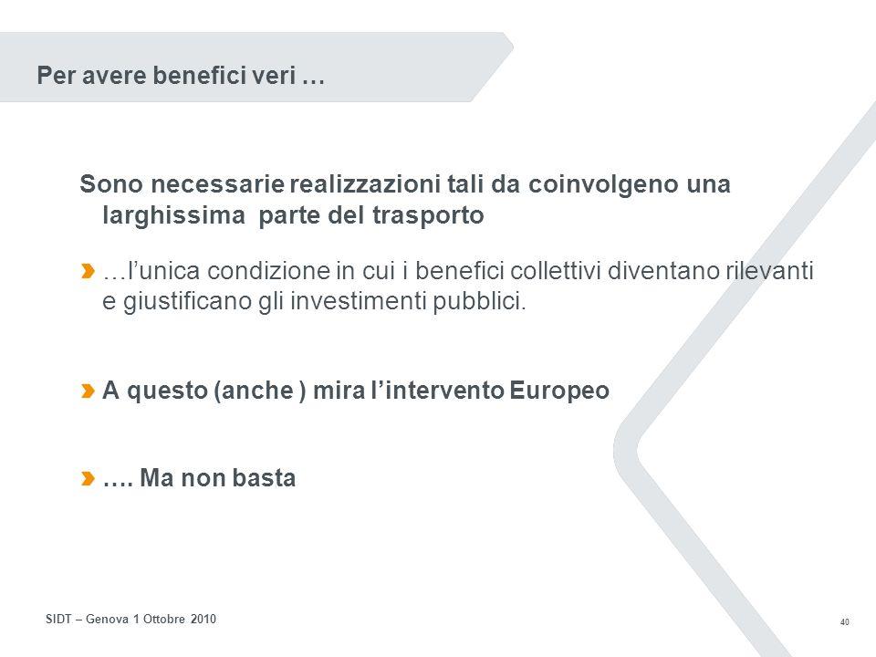 39 SIDT – Genova 1 Ottobre 2010 Siamo davvero – con lITS – a questo punto?