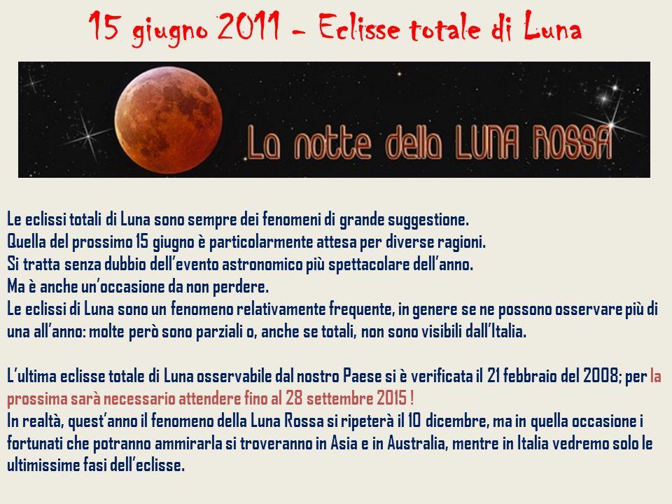 Le eclissi totali di Luna sono sempre dei fenomeni di grande suggestione. Quella del prossimo 15 giugno è particolarmente attesa per diverse ragioni.