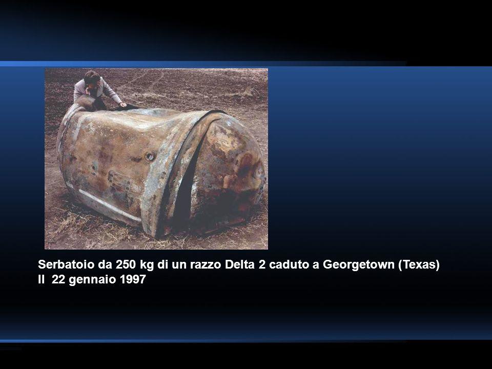 Serbatoio da 250 kg di un razzo Delta 2 caduto a Georgetown (Texas) Il 22 gennaio 1997