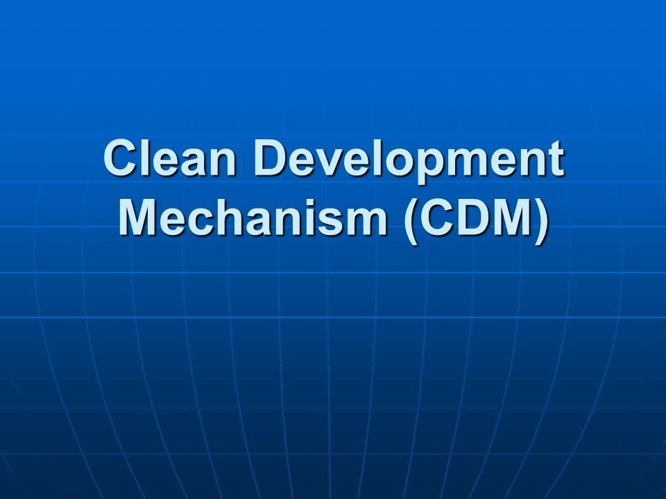 Clean Development Mechanism (CDM)