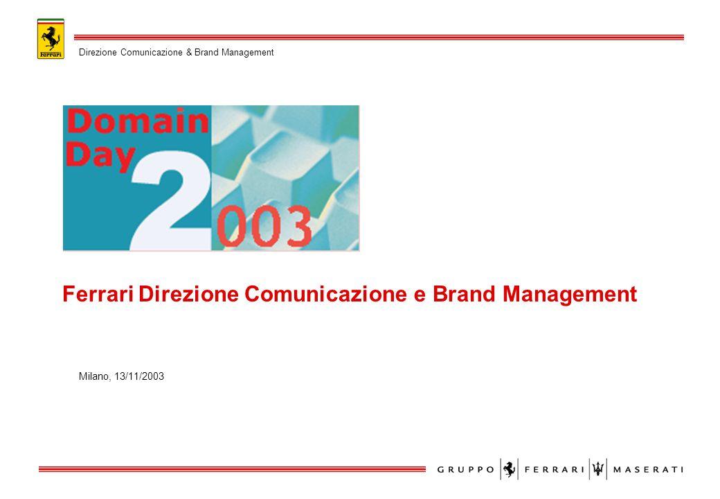 E il brand italiano più conosciuto al mondo E tra i più imitati Un autentico valore per lAzienda Unopportunità di business IL BRAND FERRARI Direzione Comunicazione & Brand Management Page: 2